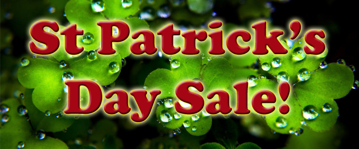 St Patrick's Day Sale!